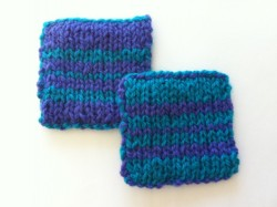 Double Knitting class samples
