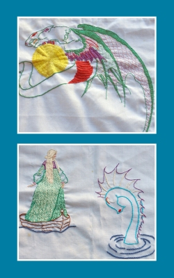 Embroidered pieces