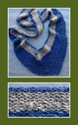 Scarf before embroidery